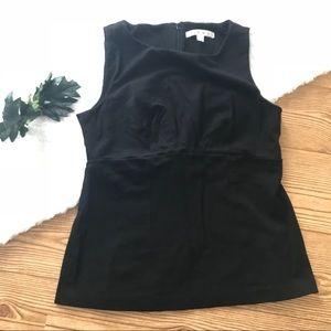 Cabi sleeveless zipper back pleated bust top